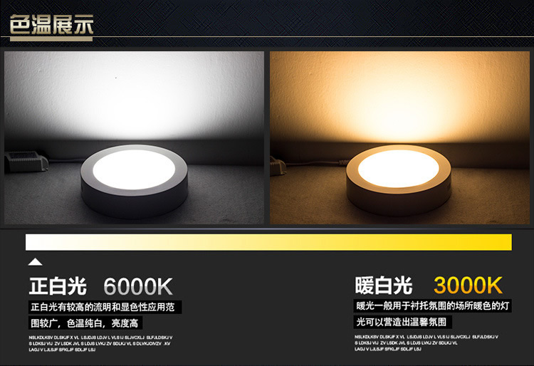 40w CE& RoHS approval round surface mounted led panel light nice shape