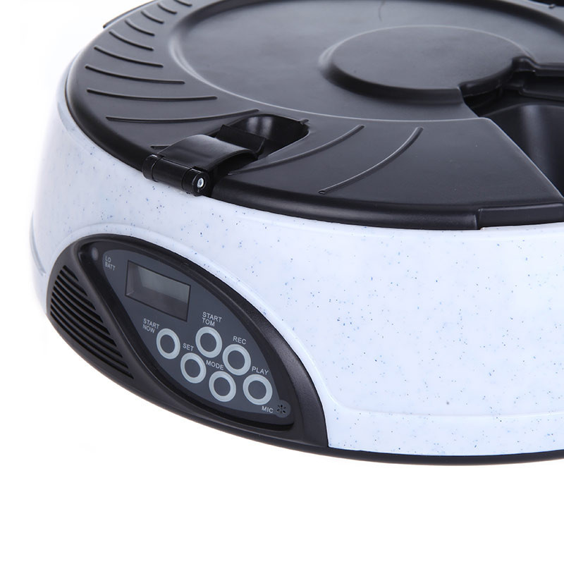 6 Programmable Automatic Timer Dog Feeder Bowl Tray LCD Voice Recorder